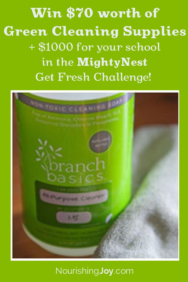 Winner of the MightyNest Cleaning Supplies Giveaway!