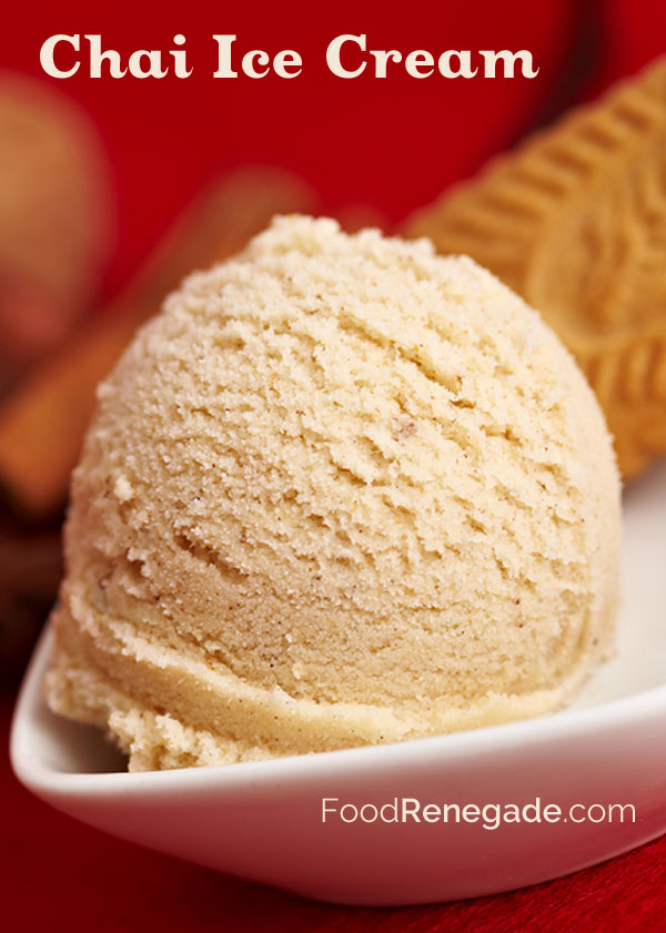 Chai Ice Cream - a treat for summertime, autumn, or winter!