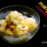 "Mango Cranberry Sherbet from ""Just Makin' Ice Cream"" - THE simplest, most inspiring book on homemade ice cream I know of. Seriously."