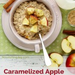 Caramelized Apple Slow Cooker Oatmeal - a fantastic solution for school mornings, lazy mornings, holiday mornings - pretty much anytime! | NourishingJoy.com