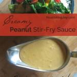 Creamy Peanut Stir Fry Sauce - use cashew or almonds instead, if you want!