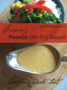 Creamy Peanut Stir Fry Sauce - use cashew or almonds instead, if you want!