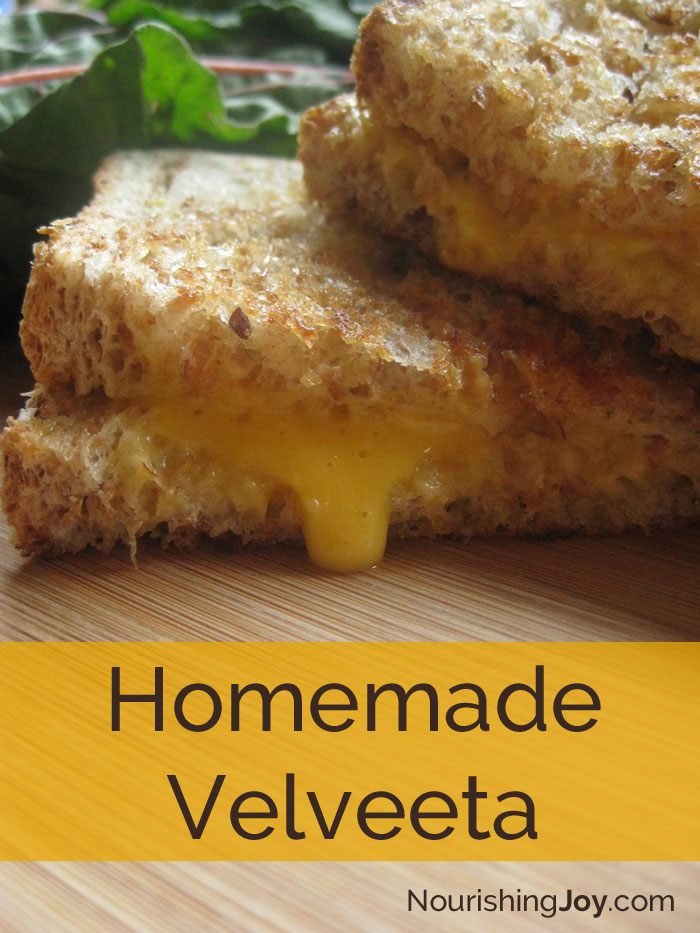Homemade Velveeta - with all real food ingredients!