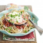 Shortcut Eggplant Parmesan from the new cookbook, 100 Days of Real Food