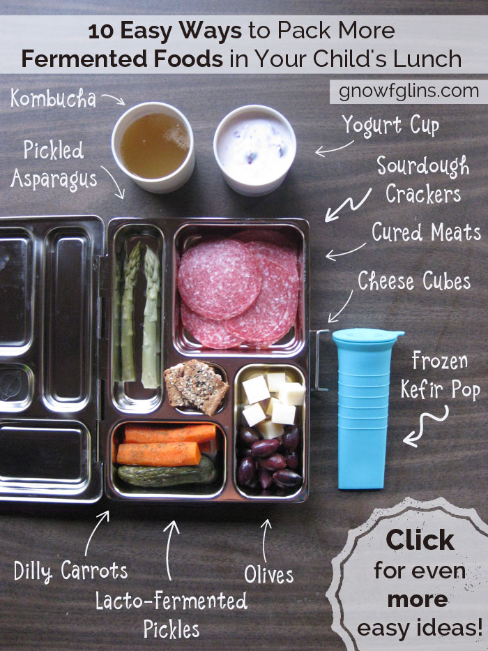 10 Easy Ways to Pack More Fermented Foods in Your Child's Lunch