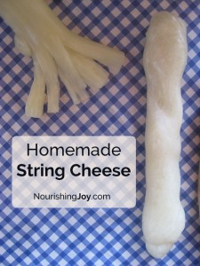 Homemade String Cheese