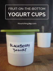 Use jam, preserves, or fresh fruit to create nutritious, delicious homemade yogurt cups!