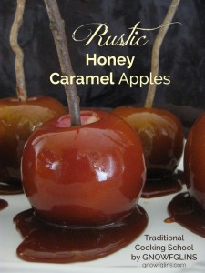 These rustic caramal apples made with honey caramel are a real food indulgence worth savoring at least one this season!