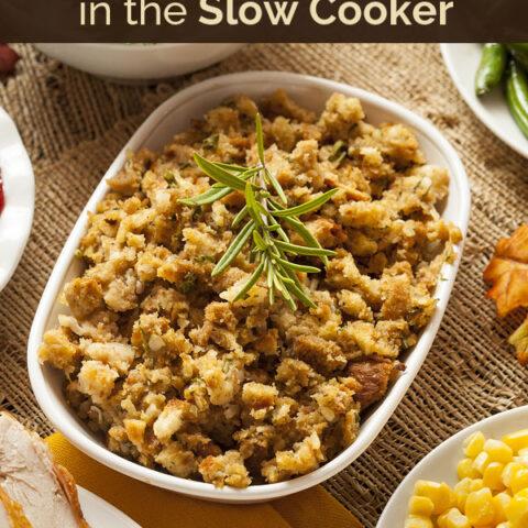 Slow Cooker Stuffing for Thanksgiving (or anytime!)   NourishingJoy.com