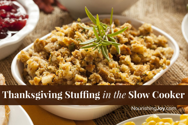 Thanksgiving Stuffing in the Slow Cooker