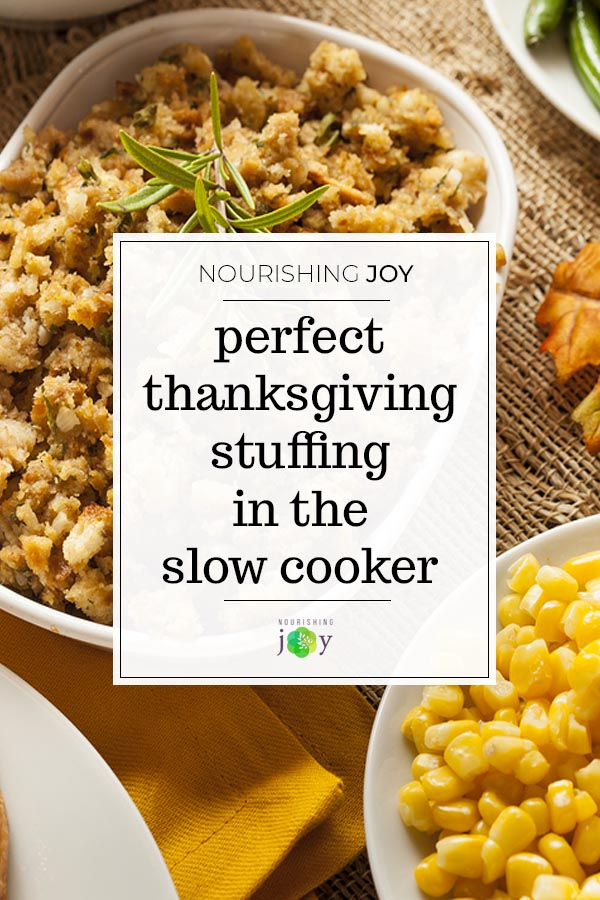 Slow Cooker Stuffing for Thanksgiving (or anytime!)