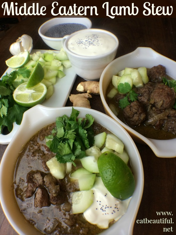 Middle Eastern Lamb Stew from Eat Beautiful.... mmmmm......