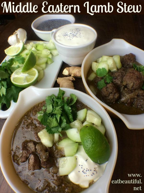 Middle Eastern Lamb Stew from Eat Beautiful.... mmmmm......