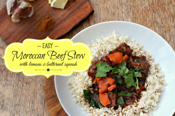 Moroccan Beef Stew from And Here We Are