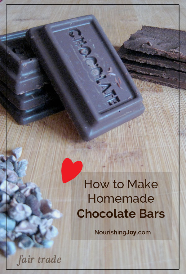 Homemade Fair Trade Chocolate Bars