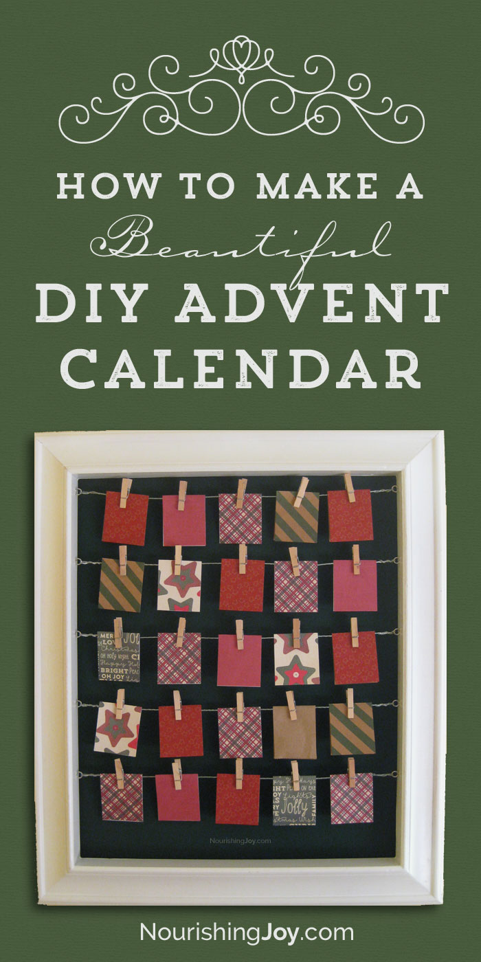 Make a beautiful Advent calendar with these easy steps!