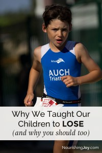It's not a bad thing when our kids lose - in fact, it's quite necessary. Especially when your kids are awesome. :)
