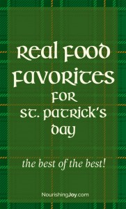Eat real food this St. Patrick's Day!