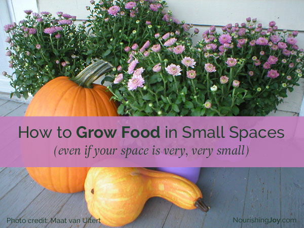How to Grow Food in Small Spaces - it's easier than you think!