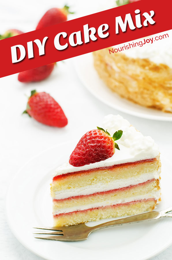 Make your own additive-free homemade cake mix! Whip up cakes and cupcakes in