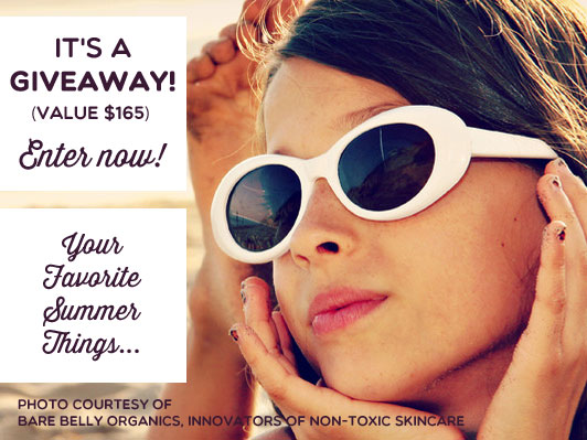 It's not just one, but TWELVE giveaways celebrating summer! Wahoo! You'll want to enter now....