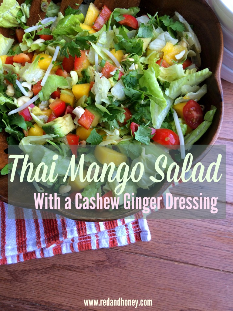 Thai Mango Salad with a Cashew Ginger Salad