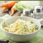 This classic coleslaw is the real food version of the traditional American recipe, and goes beautifully with any barbecue, fried chicken, or pulled pork. :)