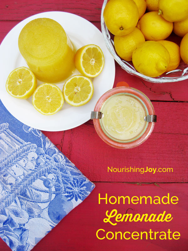 This sweet & perky homemade lemonade concentrate is your all-natural, ready-to-mix lemonade free of high fructose corn syrup and artificial flavors. Mix some up today!