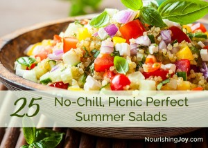 Need a salad that can go with you and that don't require chilling? Keep this list in your back pocket!