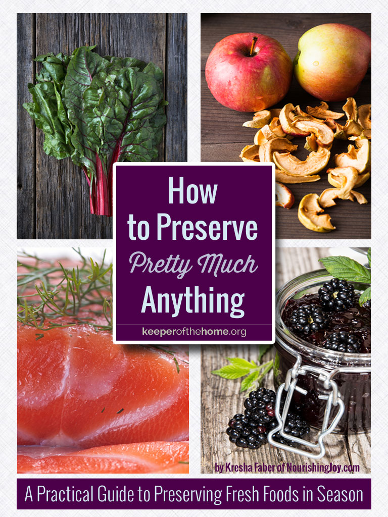 How to Preserve Pretty Much Anything - a great starter guide to all seven methods of preservation!