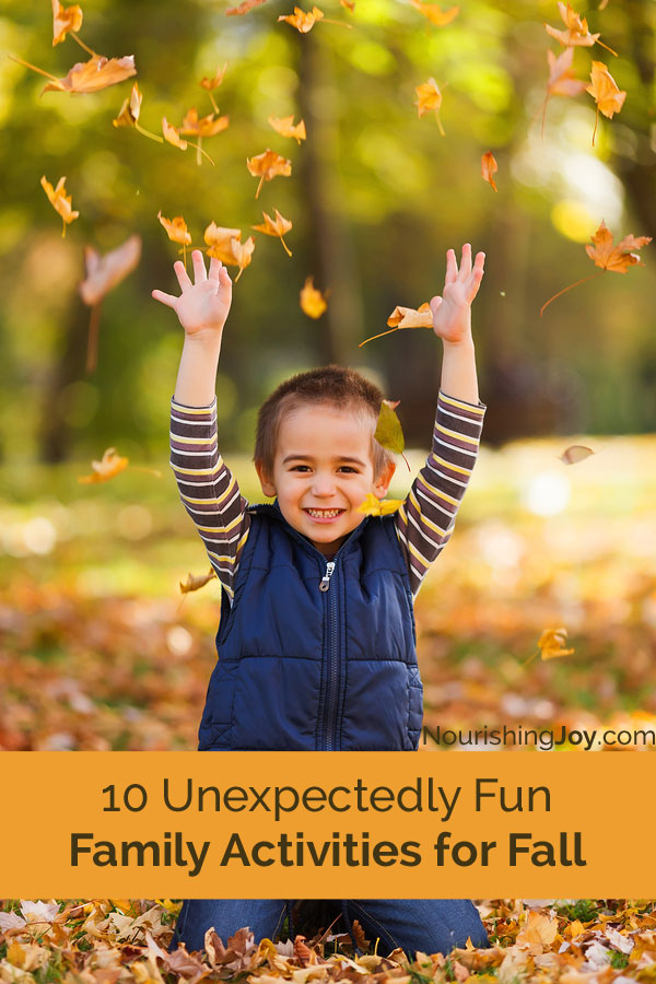 Laughing and spending time with family and friends is an essential element to living healthy, joy-filled lives. Here are 10 fall-themed activities to do with YOUR family this autumn.