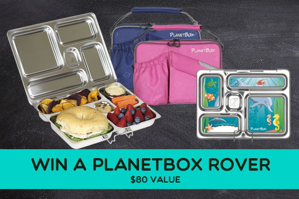 Win a PlanetBox Rover, a durable, eco-friendly way to send real food lunches with your children!