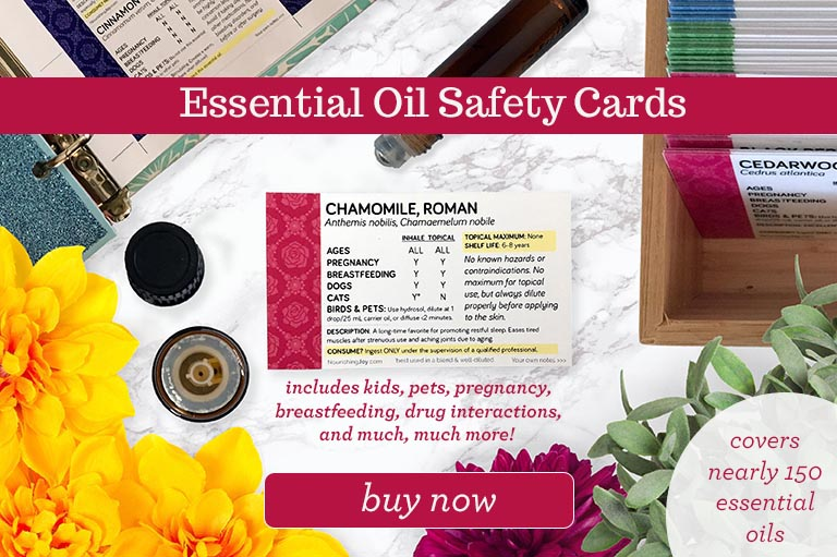 Essential Oil Safety Cards, the convenient way to make using essential oils safely easy!