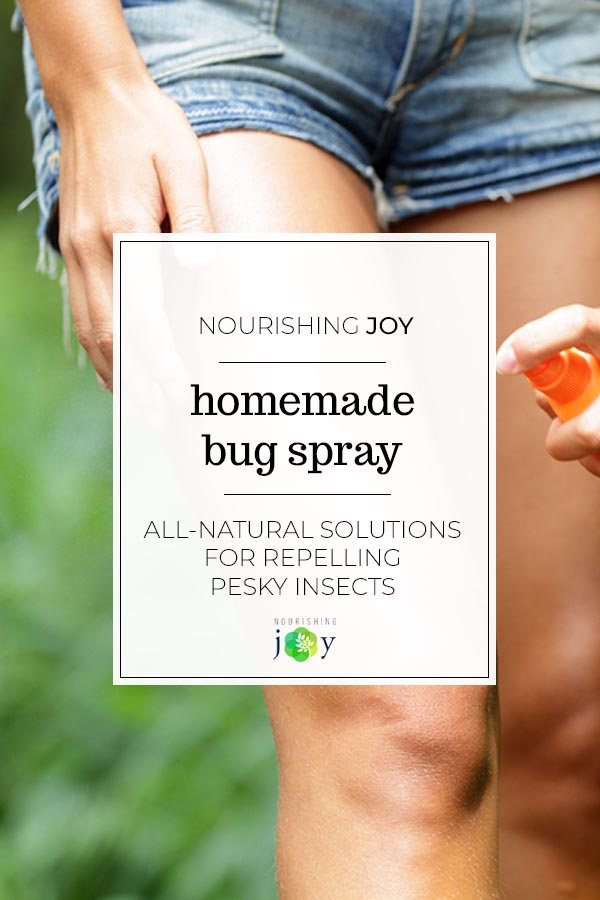 Easy, all-natural bug sprays are a simple way to keep unwanted pests at bay (at least... the insect kind....)