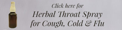 Herbal Throat Spray for Cough, Cold, and Flu
