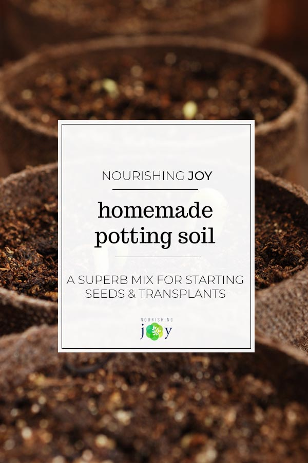 Homemade potting soil requires only 3 ingredients and provides a place for your plants to thrive!