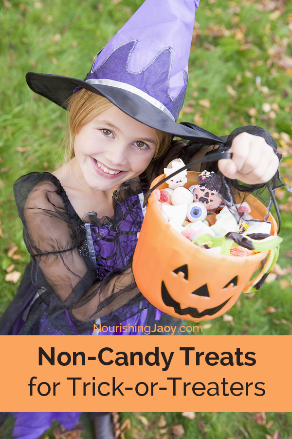 Who says candy is the only treat we can give out on Halloween? Here are few ideas to get you started.