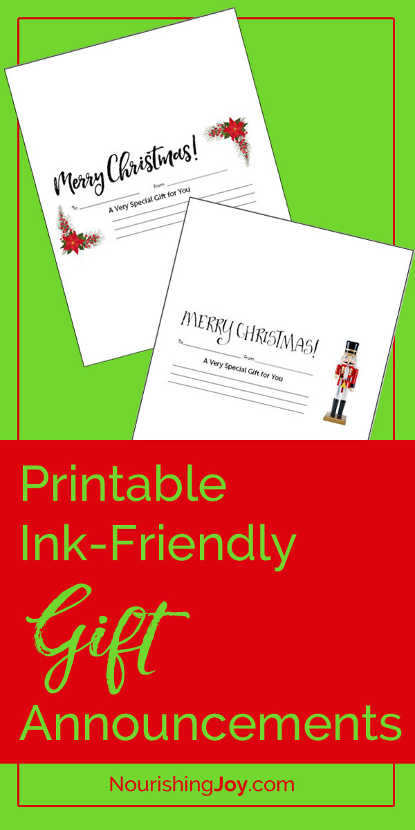 Need to find a last-minute gift - FAST? This list gives you dozens of ideas to get your creative juices flowing! And then use these simple, ink-friendly gift announcements to share the love. <3