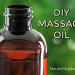 DIY Massage Oil: a gift for yourself, a loved one, or to give for a wedding! It's simple to make, easily customizable, and makes every relaxation or special-day romance extra-special.