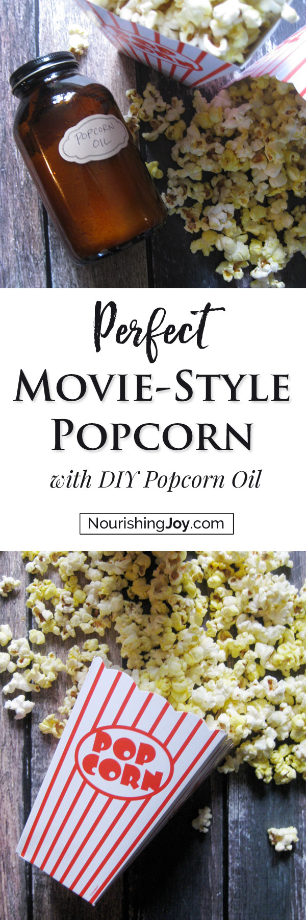 Make your own healthy DIY popcorn oil for delicious popcorn!