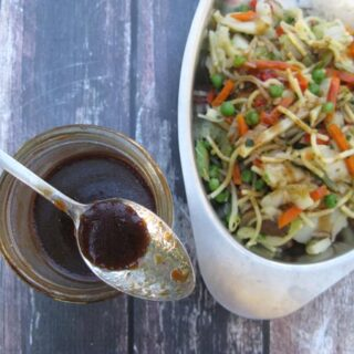 This basic and SUPER-simple stir fry sauce can be used for anything from chow mein to egg roll dipping sauce - it's very versatile! And even better, you just mix everything up in a jar and you're good to go for months.