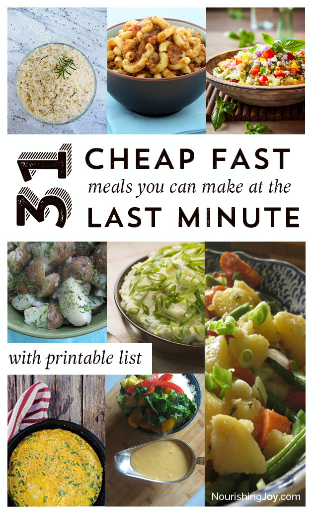 31 cheap last minute real food dinner ideas nourishing joy its a sinking feeling at the end of the day to realize you dont forumfinder Image collections