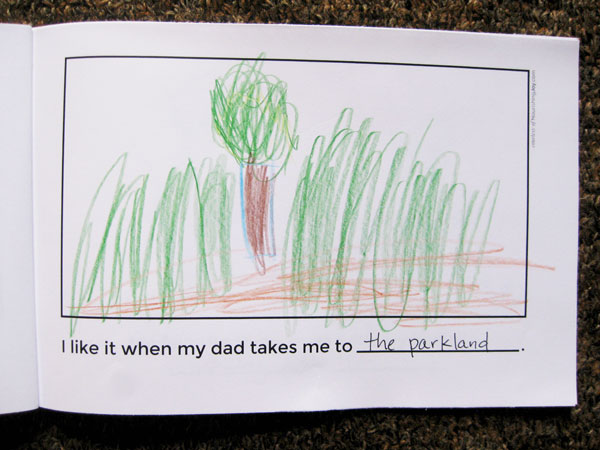 Father's Day Gift Idea: Make a sweet keepsake book about Dad!