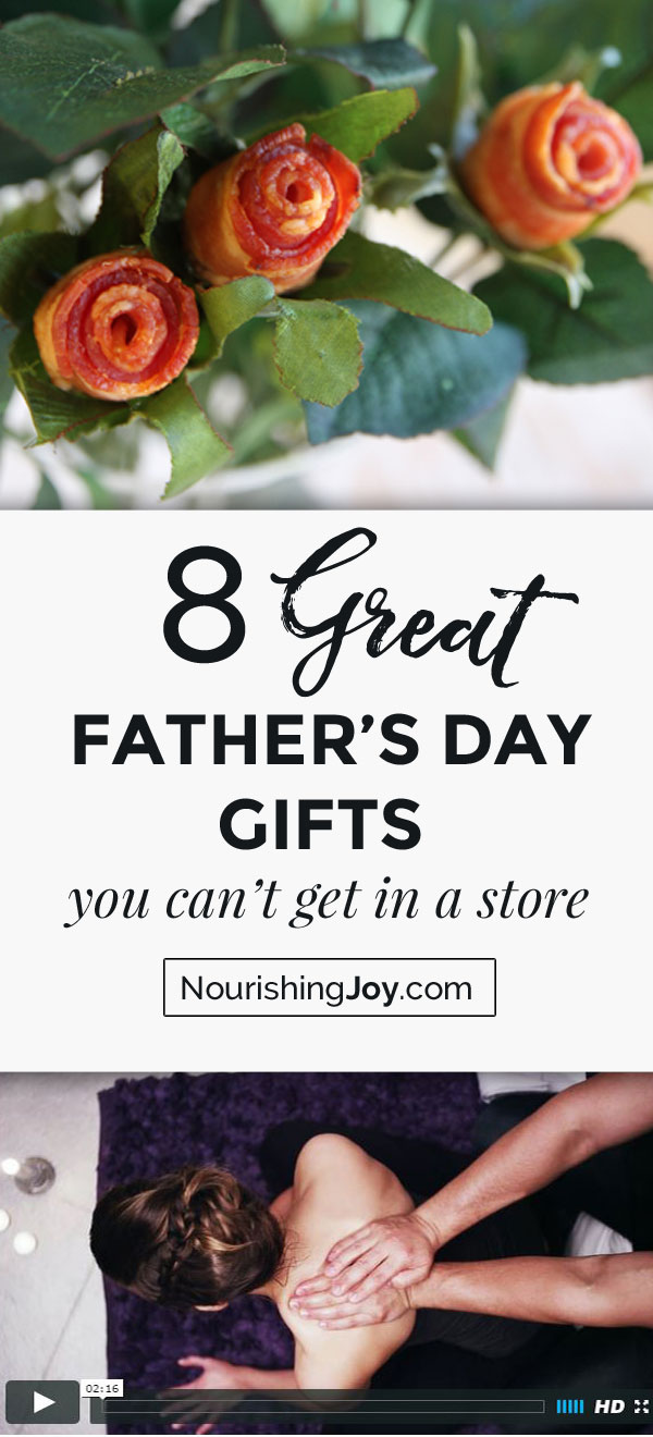 Need an idea (or two) for a Father's Day gift? Look no further! These eight creative ideas will certainly get your gift-giving juices flowing.