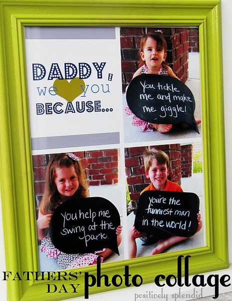 Father's Day Gift Ideas: photo collage