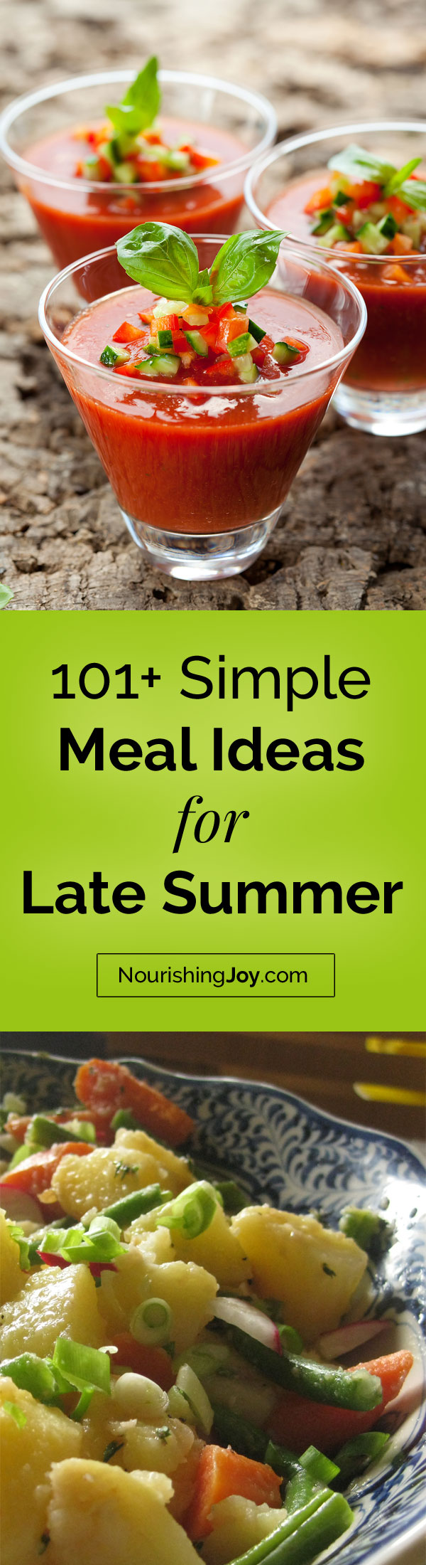 When it's hot and you're lacking inspiration, these simple meal ideas will get you going again until the weather turns cool again.