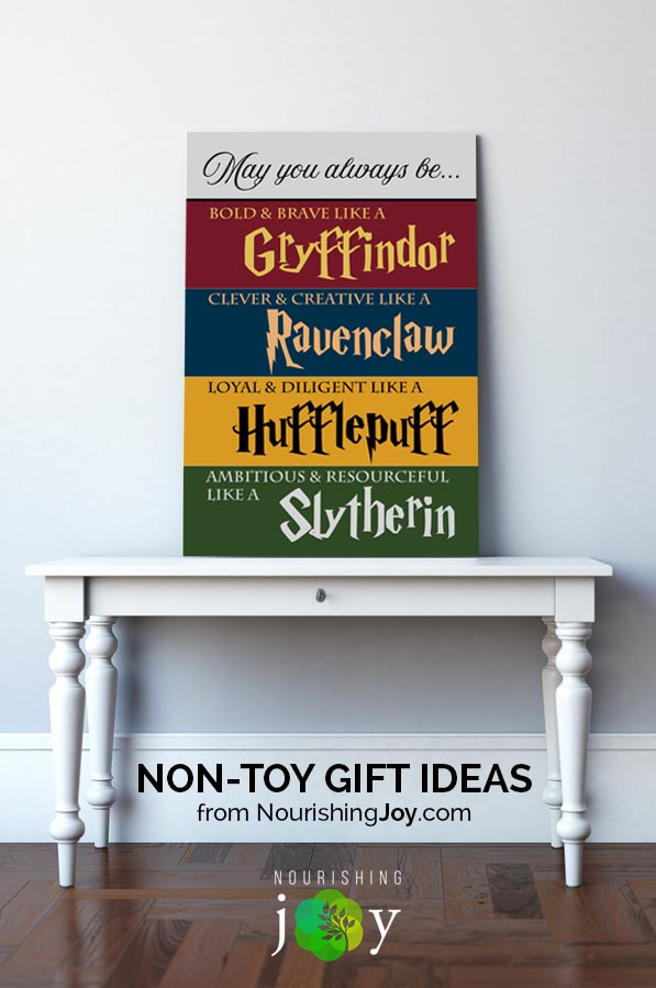 If your child loves Harry Potter as much as my daughter does, creating Harry Potter-inspired wall art isn't difficult - and it's just one of many great non-toy gift ideas we've got...