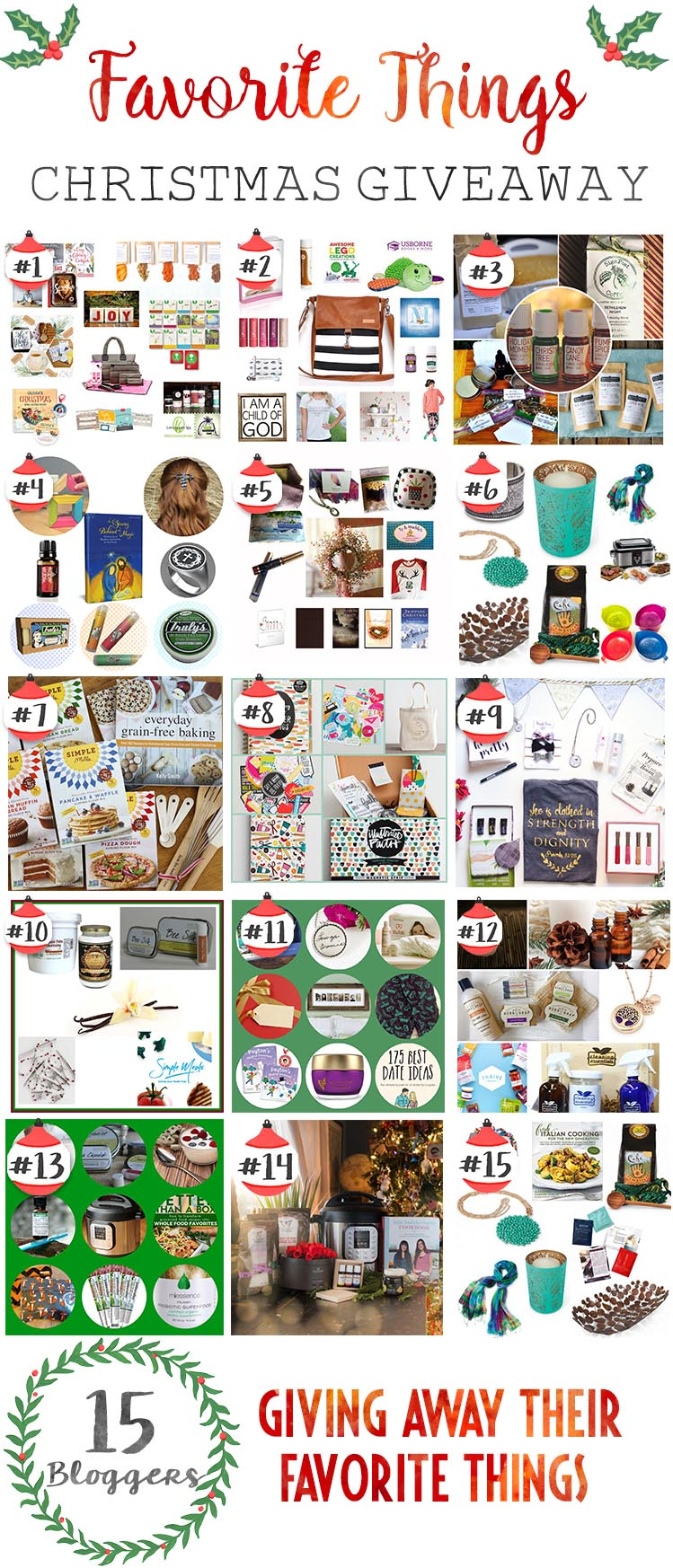It's time for our annual Favorite Christmas Things giveaway! Enter to win 12 different giveaways and discover new favorite Christmas things for YOUR home and family...
