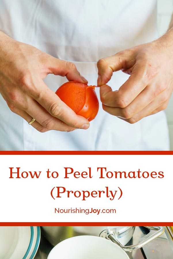 Peeling tomatoes is simple - and it's the secret to great salsa, perfect pizza sauce, and scrumptious pasta sauces.