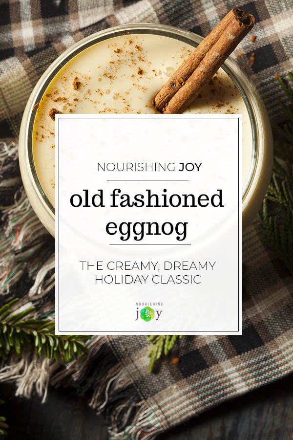 There's nothing like the rich, creamy taste of classic, old-fashioned eggnog to make it feel like a holiday. Our classic recipe features cream, eggs, and an absolutely ridiculous amount of nutmeg.